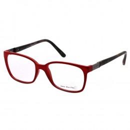 Óculos de Grau Jean Monnier Quadrado Acetato Vermelha Aro Fechado Sem  Plaquetas 0j83147d76053 dc0e2abad5