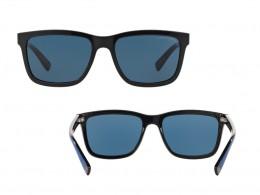 Óculos de Sol Armani Exchange Quadrado Armação Acetato Preta Lente Azul Comum  Sem Plaquetas 0ax4045sl81778056 bce936f8ba
