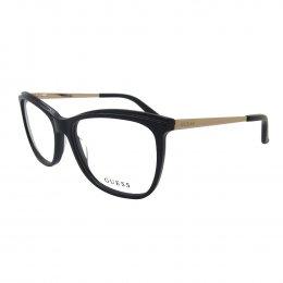 Óculos de Grau Guess Retangular Acetato Preta Aro Fechado Sem Plaquetas  gu2641 54005 e5c4c55451