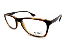 Óculos de Grau Ray-Ban Quadrado Acetato Tartaruga Aro Fechado Sem Plaquetas  rx7072l230154 73dcbbdd78