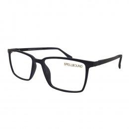 780d22d11f88d Óculos de Grau Spellbound Retangular Acetato Preta Aro Fechado Sem Plaquetas  sb 041 1
