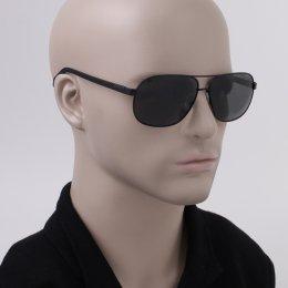 b76d5285b4d54 Óculos de Sol Polaroid Quadrado Armação Metal Preto Lente Preta Comum Com Plaquetas  pld 2059