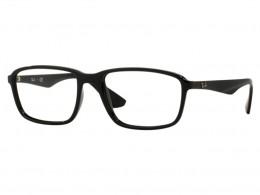4e2fc965e Óculos de Grau Ray-Ban Quadrado Acetato Preta Aro Fechado Sem Plaquetas  0rx7084 2000 56
