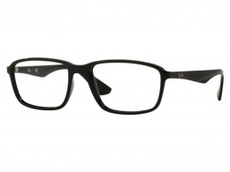 Óculos de Grau Ray-Ban Quadrado Acetato Preta Aro Fechado Sem Plaquetas  0rx7084 2000 56 f3c2bee547