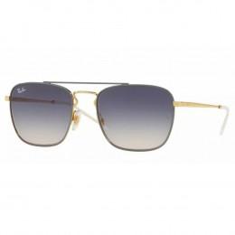 Óculos de Sol Ray-Ban Quadrado Armação Metal Cinza Lente Azul Degradê Com  Plaquetas 0rb358 dd95fec5a9