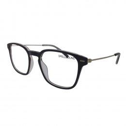 Óculos de Grau Spellbound Quadrado Acetato Preta Aro Fechado Sem Plaquetas  sb 15712 1 B 2d2a6193c0
