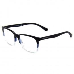 Óculos de Grau Emporio Armani Quadrado Acetato Azul Aro Fechado Sem  Plaquetas 0ea3127 5629 55 91a1b1cf3b