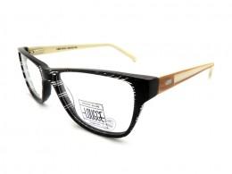 3528e1b962316 Óculos de Grau Lougge Quadrado Acetato Preta Aro Fechado Sem Plaquetas lgo  519.3