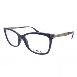e20acf20e40f0 Óculos de Grau Vogue Retangular Acetato Azul Aro Fechado Sem Plaquetas  0vo5125l 2416 53