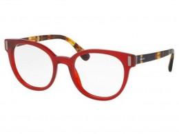 Óculos de Grau Prada Gatinho Acetato Vermelha Aro Fechado Sem Plaquetas  0pr06tvacb1o152 b0657881e8