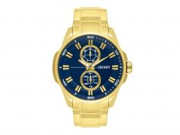 37b85946d68 Relógio Orient Dourado e Azul Masculino