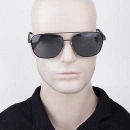 4d922e820e863 Óculos de Sol Polaroid Quadrado Armação Metal Preto Lente Preta Comum Com Plaquetas  pld 2044