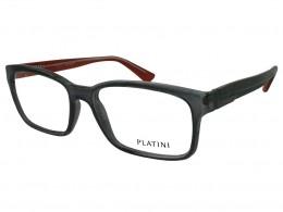 5d11b7a7c Óculos de Grau Platini Retangular Acetato Cinza Aro Fechado Sem Plaquetas  0p93111d22654