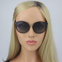 Óculos de Sol Vogue Redondo Armação Acetato Preta Lente Preta Comum Sem  Plaquetas 0vo5166sl w44  152ae3fab4