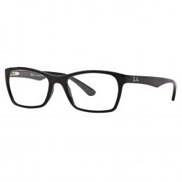 986e8228d62fa Óculos de Grau Ray-Ban Retangular Acetato Preta Aro Fechado Sem Plaquetas  0rx7033l 2000 52