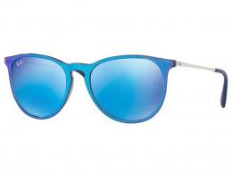 dd315539b045d Óculos de Sol Ray-Ban Redondo Armação Acetato Azul Lente Azul Espelhada Sem  Plaquetas 0rb4171