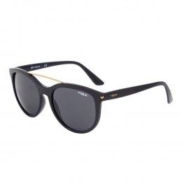 efd76ad33f55f Óculos de Sol Vogue Redondo Armação Acetato Preta Lente Preta Comum Sem  Plaquetas 0vo5134s w44