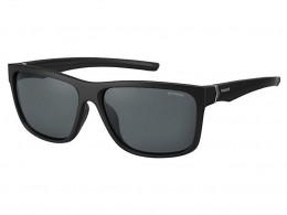 Óculos de Sol Polaroid Retangular Armação Acetato Preta Lente Preta Comum  Sem Plaquetas pld 7014  f694a15811