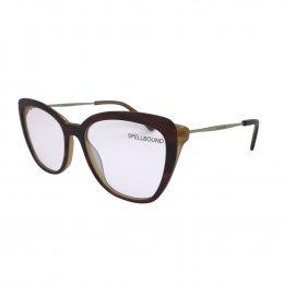 Óculos de Grau Spellbound Gatinho Acetato Marrom Aro Fechado Sem Plaquetas  sb 16484 3 040bb19613