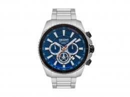 9d7034d8237 Relógio Orient Chronograph Prata e Azul Masculino