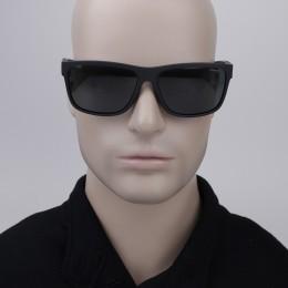 3b67545a52b6e Óculos de Sol Polaroid Retangular Armação Acetato Preta Lente Preta Comum  Sem Plaquetas pld 7014