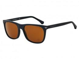 b9b36fdd8b048 Óculos de Sol Emporio Armani Quadrado Armação Acetato Preta Lente Marrom  Comum Sem Plaquetas 0ea405650897357