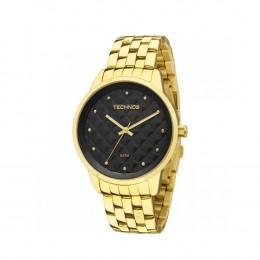 0544a5e9fcd Relógio Technos Caixa Redonda Analógico Metal Dourada Pulseira Metal Dourada  2035lwm 4p