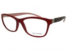 76a08b9d95268 Óculos de Grau Jean Monnier Quadrado Acetato Vermelha Aro Fechado Sem  Plaquetas 0j83138c80454