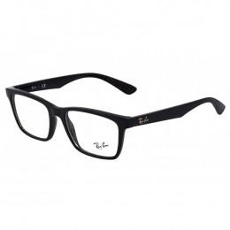 Óculos de Grau Ray-Ban Quadrado Acetato Preta Aro Fechado Sem Plaquetas  rx7027l 200056 edc95ab333
