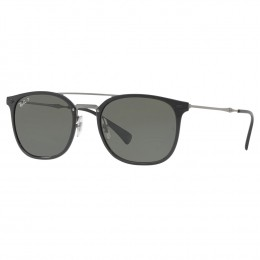 6e23c50cde8fc Óculos de Sol Ray-Ban Redondo Armação Acetato Preta Lente Verde Polarizada  Com Plaquetas 0rb4286