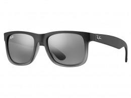 Óculos de Sol Ray-Ban Quadrado Armação Acetato Cinza Lente Cinza Espelhada  Sem Plaquetas 0rb4165l852 894059ced8