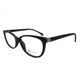 287a7313d Óculos de Grau Bulget Gatinho Acetato Preta Aro Fechado Sem Plaquetas  bg4098 a01