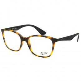 6475496a964ca Óculos de Grau Ray-Ban Quadrado Acetato Tartaruga Aro Fechado Sem Plaquetas  0rx7066l 557752