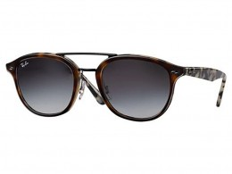 Óculos de Sol Ray-Ban Redondo Armação Acetato Tartaruga Lente Preta Degradê  Sem Plaquetas 0rb2183 7836804d87
