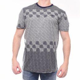 Camiseta MCD Raglan Estampa Geométrica Azul Marinho d81b1a6c9f0