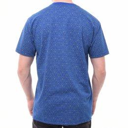 72c6f052dbf Camiseta Ogochi Estampa Geométrica Azul e Verde
