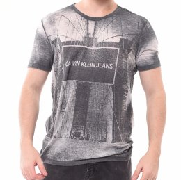 c67c8387003 Camiseta Calvin Klein Estampa New York Preta Mescla
