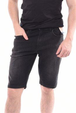 76c26bc983c Bermuda Jeans Dlz Malha Denim Slim Bolso para Celular Preta