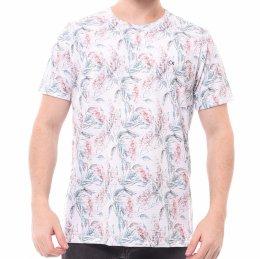 cfe0056babb Camiseta Ogochi Slim Fit Estampada Branca e Rosê