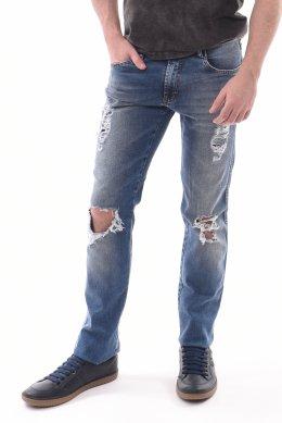 843ad096152 Calça Jeans Oceano Skinny Rasgada com Lycra
