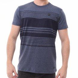 Camiseta Oakley com Listras Azul Marinho Mescla 4da11c549da