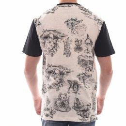 Camiseta MCD Estampada com Bolso Bege e Preto e4f663f57d86a