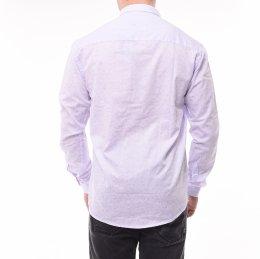 c0e28b2a45c Camisa Ogochi Super Slim Jacquard Lilás