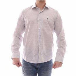 298b4c75855 Camisa Baumgarten Slim Manga Longa Mescla 100% Algodão