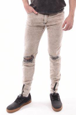 8616c0413 Calça Jeans Booq Black Destroyed Detalhe Zíper Skinny Marmorizada Bege - LM  Martins - Veste você por inteiro