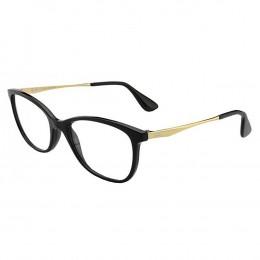 Óculos de Grau Ray-Ban Gatinho Acetato Preta Aro Fechado Sem Plaquetas  0rx7106l 5697 53 61a4635476