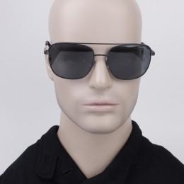 5ef85e3106dde Óculos de Sol Polaroid Caçador Armação Metal Preto Lente Preta Comum Com  Plaquetas pld 2056