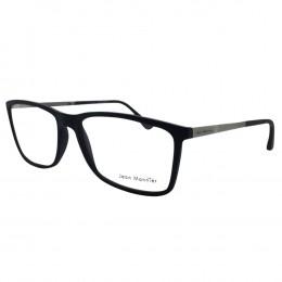 f2a03fc1cedf5 Óculos de Grau Jean Monnier Quadrado Acetato Azul Aro Fechado Sem Plaquetas  0j83145d 35354