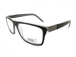Óculos de Grau Lougge Quadrado Acetato Preta Aro Fechado Sem Plaquetas lgo  494.2 286819158d