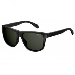 e69354c026277 Óculos de Sol Polaroid Quadrado Armação Acetato Preto Lente Preta Comum Sem  Plaquetas pld 2057